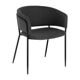 Stolica s rukonaslonom Runnie Dark Grey