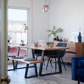 Stolica s rukonaslonom Aminy Graphite