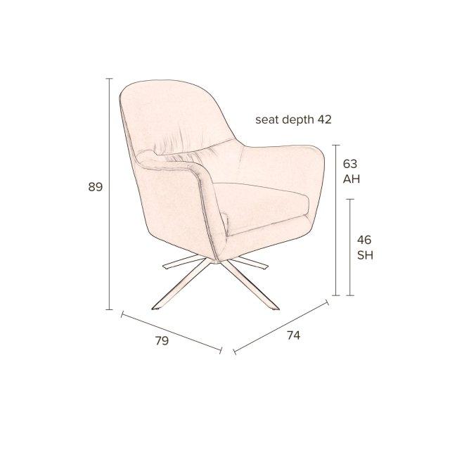 Fotelja Robusto Caramel FR