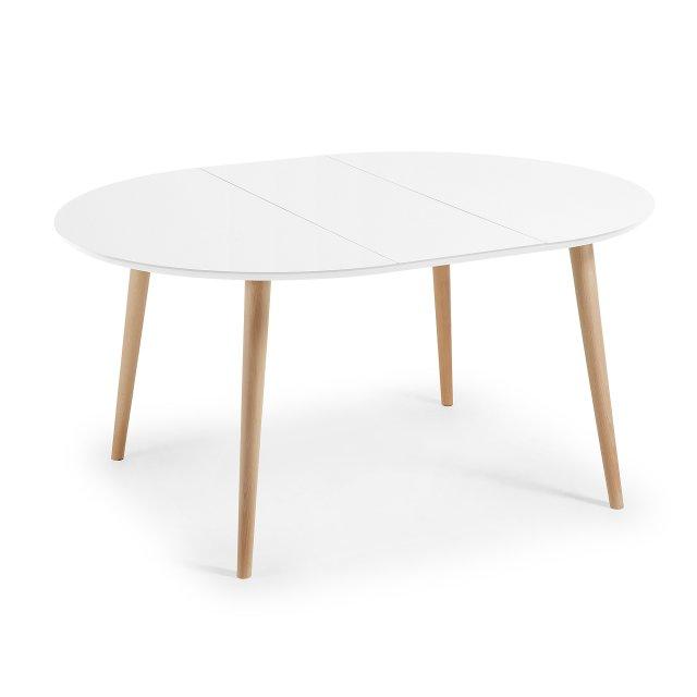 Produljivi stol Oakland 120/200x120 cm White/Natural