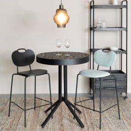 Polubarska stolica Aspen Black Wood