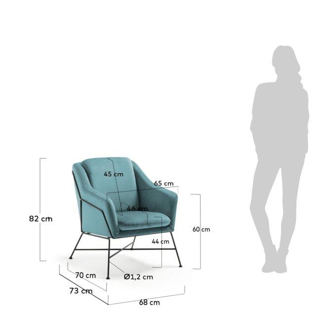 Fotelja Brida Turquoise