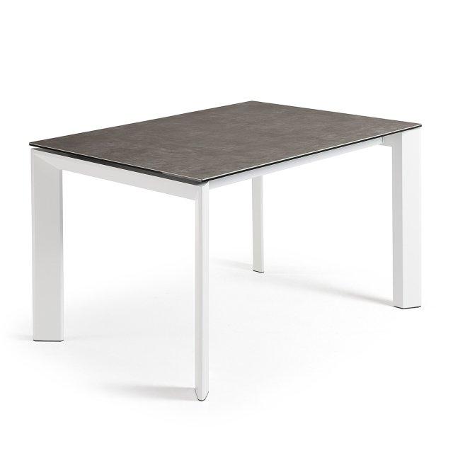 Produljivi stol Atta 120/180x80 cm Ceramic Brown/White
