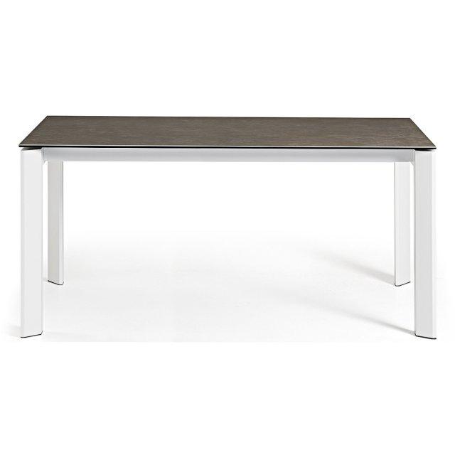 Produljivi stol Atta 140/200x90 cm Ceramic Brown/White