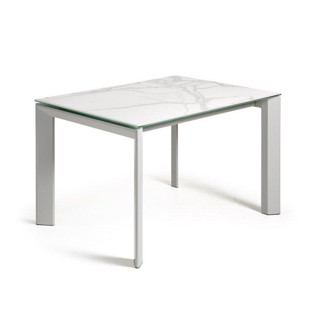 Produljivi stol Atta 140/200x90 cm Ceramic White/Grey
