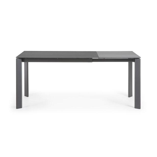Produljivi stol Atta 120/180x80 cm Ceramic All Dark Grey