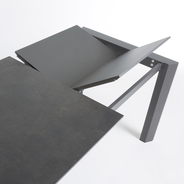 Produljivi stol Atta 140/200x90 cm Ceramic All Dark Grey