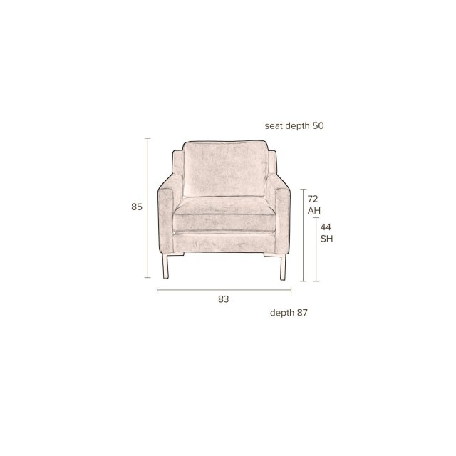 Fotelja Houda Anthracite