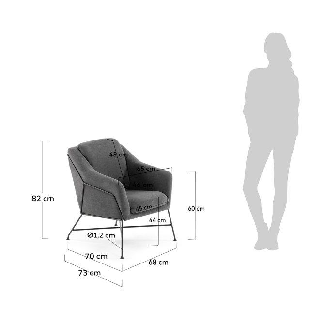 Fotelja Brida Graphite
