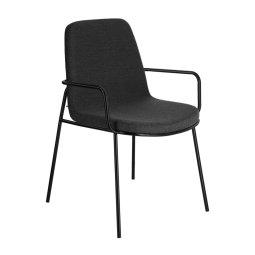 Stolica s rukonaslonom Giuilia Dark Grey