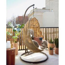 Viseća fotelja s postoljem Cira Natural