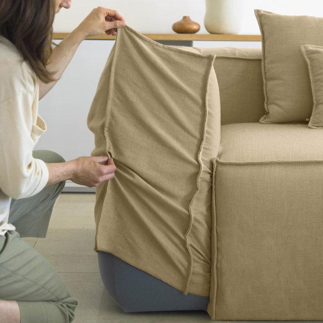 Kutna sofa Blok Beige Linen Right