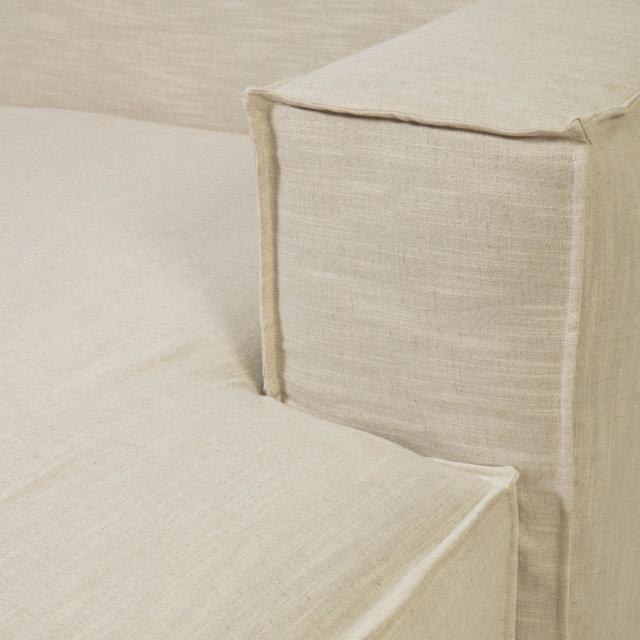 Kutna sofa Blok White Linen Right