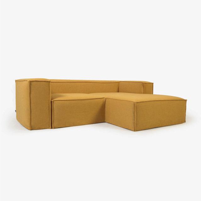 Kutna sofa Blok Mustard Linen Right