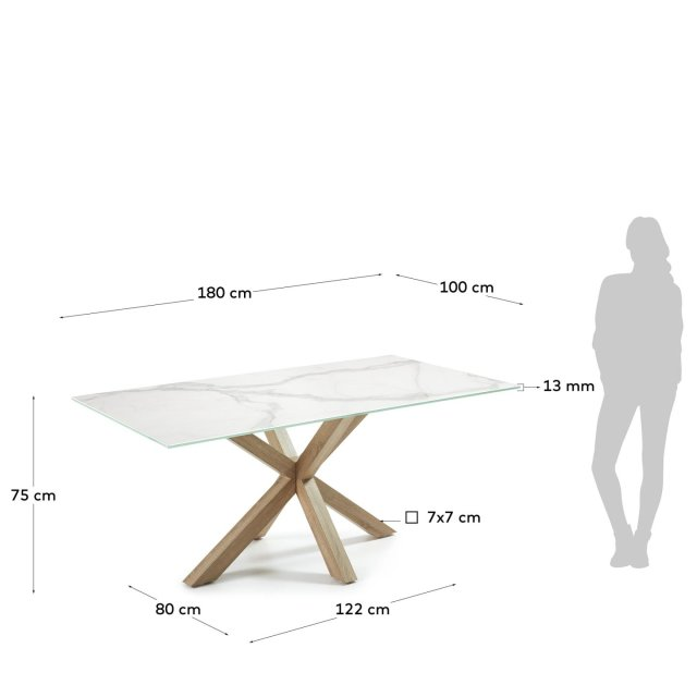 Blagovaonski stol Arya Kalos Blanc