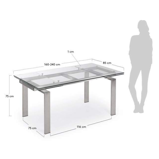 Produljivi stol Corona 160(240)x85 cm