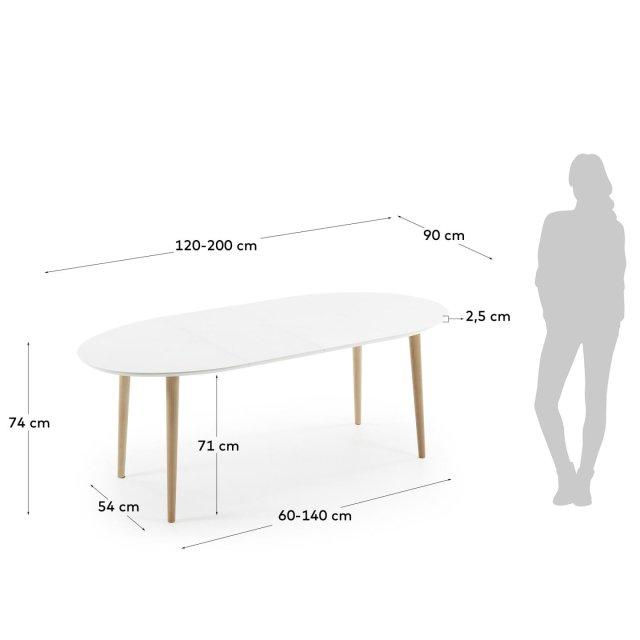 Produljivi stol Oakland 120(200)x90 cm