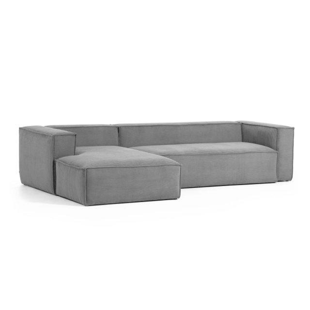 Kutna sofa Blok Left Light Grey