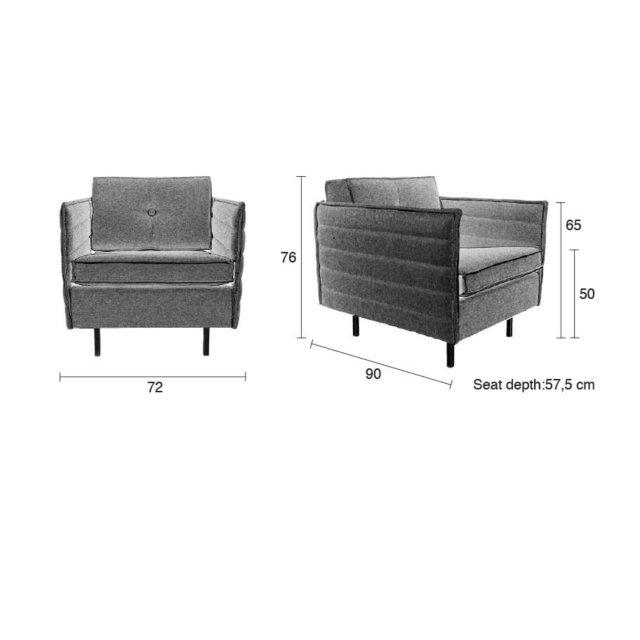 Fotelja Jaey Comfort Grey/Blue