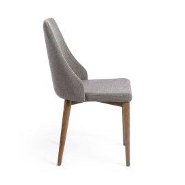 Stolica Roxie Walnut Grey