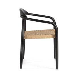 Stolica s rukonaslonom Nina Matte Black