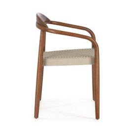 Stolica s rukonaslonom Nina Beige Walnut