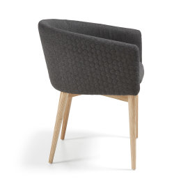 Stolica s rukonaslonom Harmon Dark Grey