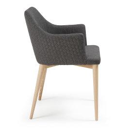 Stolica s rukonaslonom Danai Dark Grey