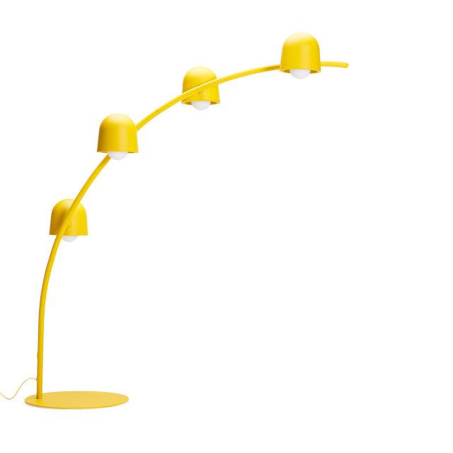 Podna lampa Big Lebow Arc Banana Yellow