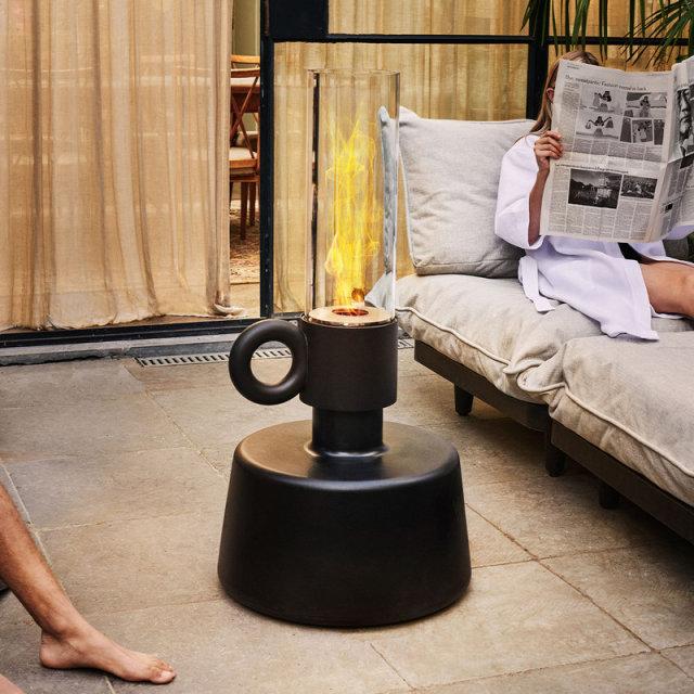 Podna lampa Flamtastique The Large Anthracite