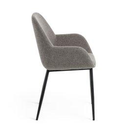 Stolica s rukonaslonom Konna Grey And Black