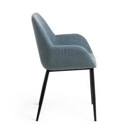 Stolica s rukonaslonom Konna Blue And Black
