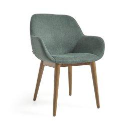 Stolica s rukonaslonom Konna Green And Ash Wood