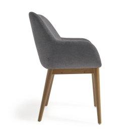 Stolica s rukonaslonom Konna Dark Grey And Ash Wood