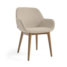 Stolica s rukonaslonom Konna Beige And Ash Wood