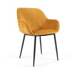 Stolica s rukonaslonom Konna Mustard Chenille