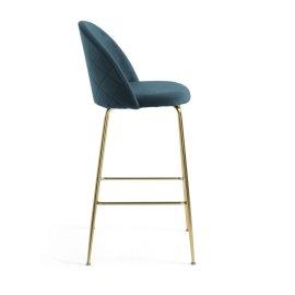 Barska stolica Ivonne Velvet Turquoise