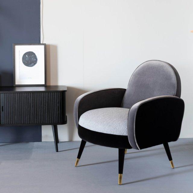 Fotelja Sam Black/Grey FR