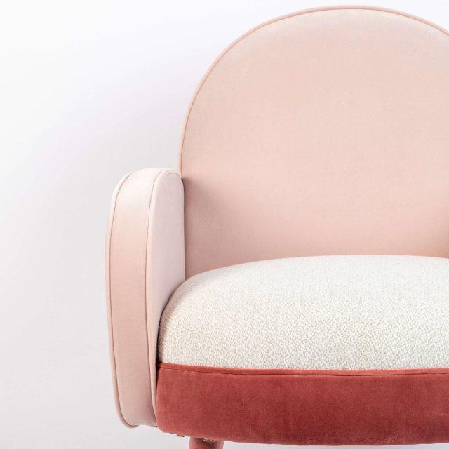 Fotelja Sam Pink/White FR