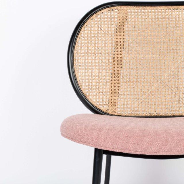 Fotelja Spike Natural/Pink