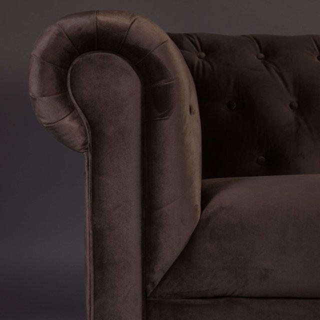 Sofa Chester Velvet Dark Brown