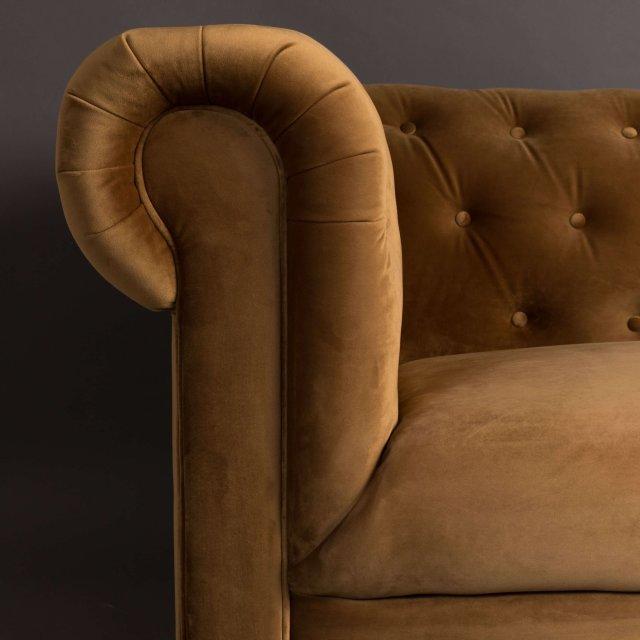 Sofa Chester Velvet Golden Brown