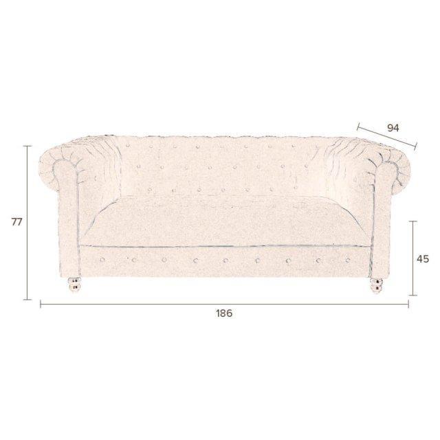 Sofa Chester Velvet Pink