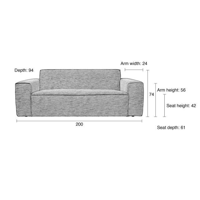 Sofa Bor Anthracite