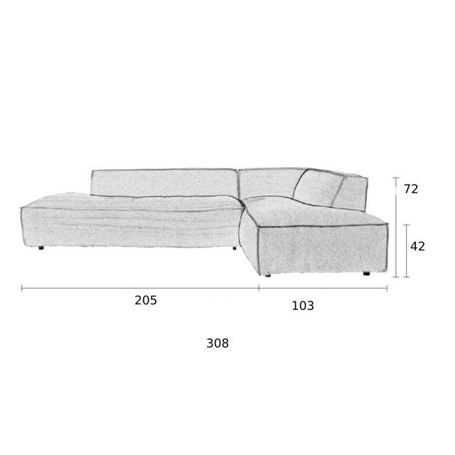 Kutna sofa Fat Freddy Comfort Grey/Blue