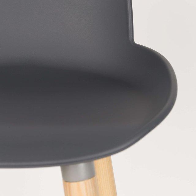 Polubarska stolica Albert Kuip Dark Grey
