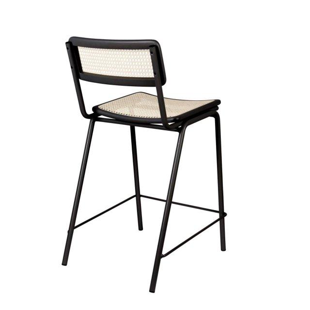 Polubarska stolica Jort Black/Natural
