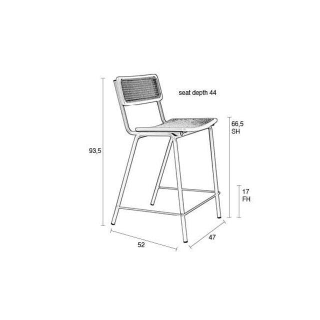 Polubarska stolica Jort Green/Natural