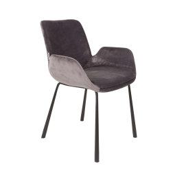 Stolica s rukonaslonom Brit Dark Grey