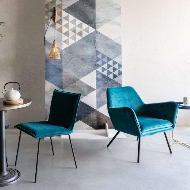 Fotelja Bon Velvet Blue